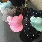 Embellished Mouse Ear Baseball Cap