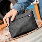 Faux-leather Clutch Bag Black - One Size