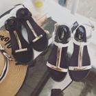 Paneled Flat Sandals