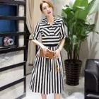 Set: Striped Shirt + Skirt