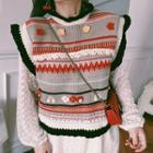 Patterned Knit Vest Knit Vest - One Size