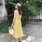 Sleeveless Tie-back Midi Chiffon Sundress