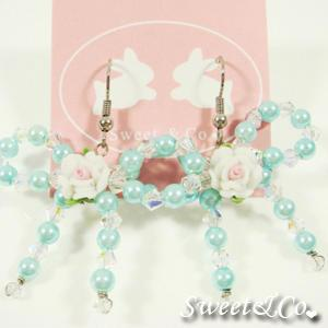 Sweetie Blue Rose Swarovski Crystal Earrings