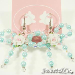 Sweetie Blue Rose Swarovski Crystal Earrings