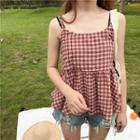 Checked Camisole Top