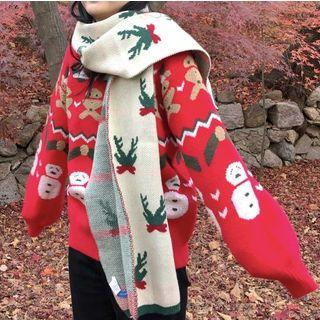 Christmas Pattern Sweater / Scarf