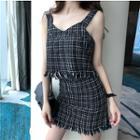 Tweed Camisole Top / Mini Skirt