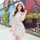 Sleeveless Ruffle Floral Dress