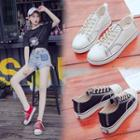 Contrast Stitching Canvas Sneakers