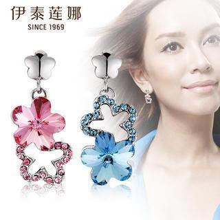 Swarovski Elements Crystal Flower Drop Earrings