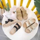 Dual Strap Star Detail Platform Sandals