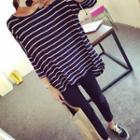 Striped 3/4 Sleeve T-shirt