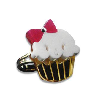 Miss Cupcake White Crystal Gold Ring (s)