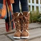 Bow Fleece-lined Tall Boots