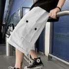 Band-waist Capri Cargo Pants