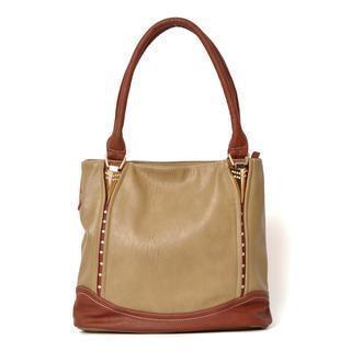 Rhinestone Detail Shoulder Bag Taupe - One Size