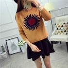 Flower Patterned Sweater