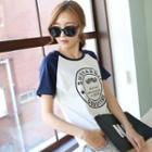 Mustache Print Short-sleeve T-shirt