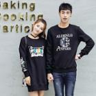 Couple Matching Printed Pullover / Printed Pullover Dress
