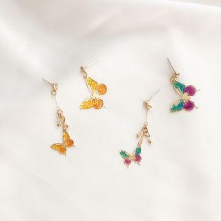 Non-matching Butterfly Dangle Earring