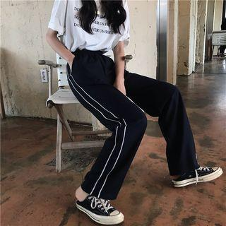 Striped Straight-fit Pants As Shown In Figure - One Size