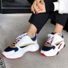 Multicolor Platform Sneakers