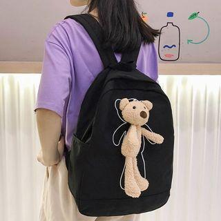 Bear Nylon Zip Backpack
