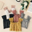 Wide-strap Lace Crop Top