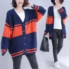 Two-tone Cardigan As Shown In Figure - One Size