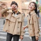 Double Breasted Cropped Trench Coat