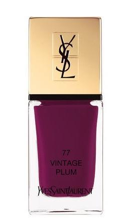Yves Saint Laurent - La Laque Couture Nail Lacquer (#077 Vintage Plum)  10ml