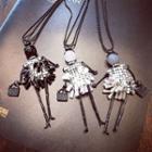 Rhinetone Doll Necklace