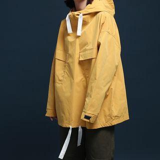 Long-sleeve Hooded Windbreaker