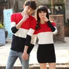 Couple Color-block Knit Top / Knit Dress