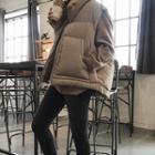 Funnel-neck Zip-up Padded Vest