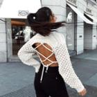 Tie-back Cable-knit Top