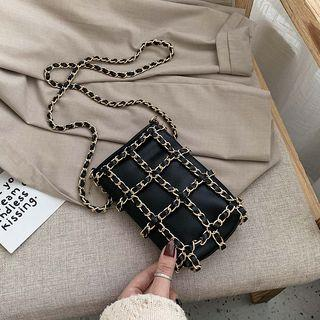 Chained Crossbody Bag Black - One Size