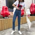Frayed Straight Leg Jeans