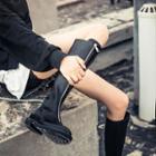 Platform Front-zip Tall Boots