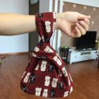 Fortune Cat Print Handbag