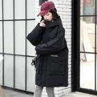 Applique Utility Hooded Padded Coat