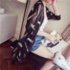 Printed Chiffon Long Jacket