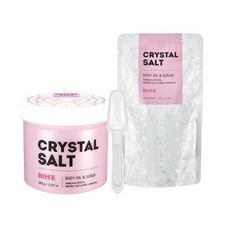 Missha - Crystal Salt Body Oil & Scrub (rose) 500g