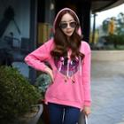 Sequined Hooded Pullover