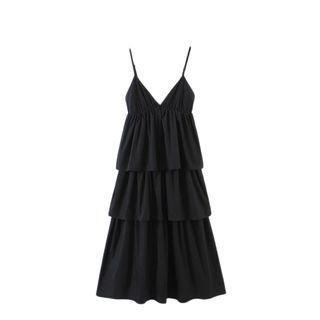 V-neck Spaghetti Strap Layered Dress