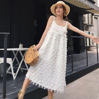 Fringed Midi Strappy Dress