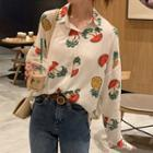 Long-sleeve Fruit Print Shirt