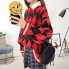 Quilted Long-sleeve Knit Top