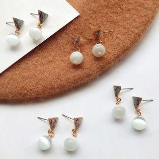 Triangle Bead Earring