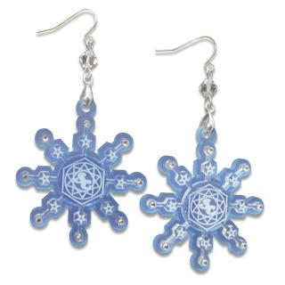 Sweet&co. Blue Snow Flurry Swarovski Crystal Earrings
